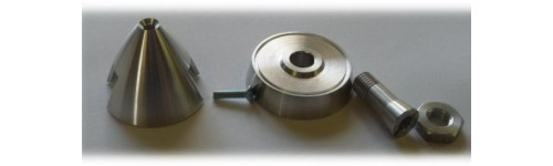 Dural spinners for fixed-pitch propeller